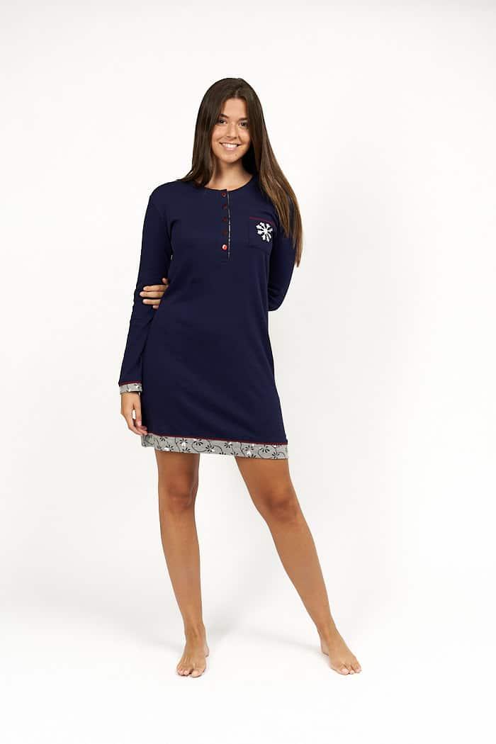 Camison de mujer color azul