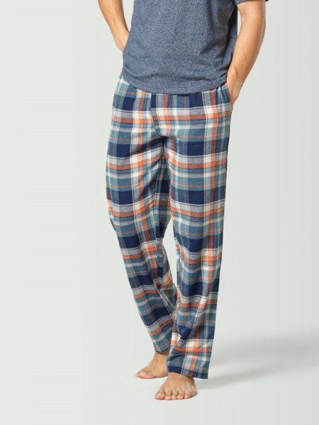 Pantalón de pijama a cuadros azul marino para hombre