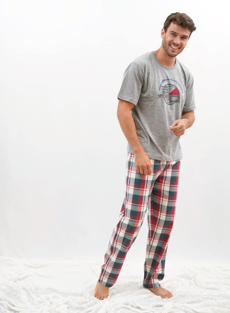 Pijama algodón cuadros