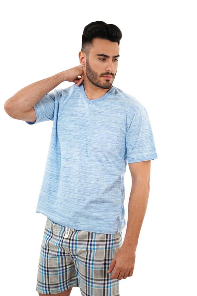 Pijama camiseta azul