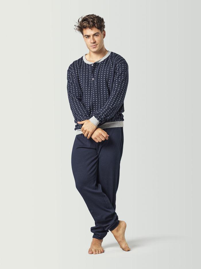 Pijama combinado azul marino