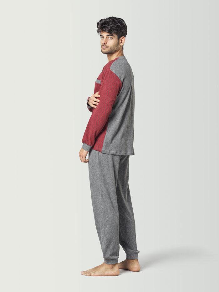 pijama combinado rojo para hombre
