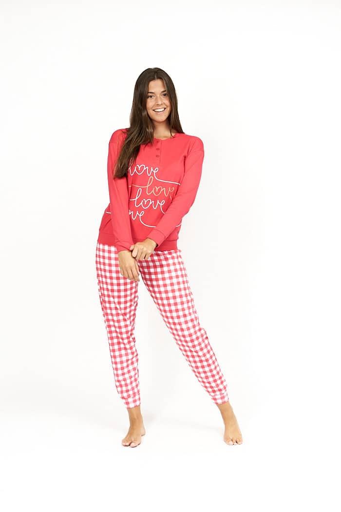 Pijama cuadro rojo