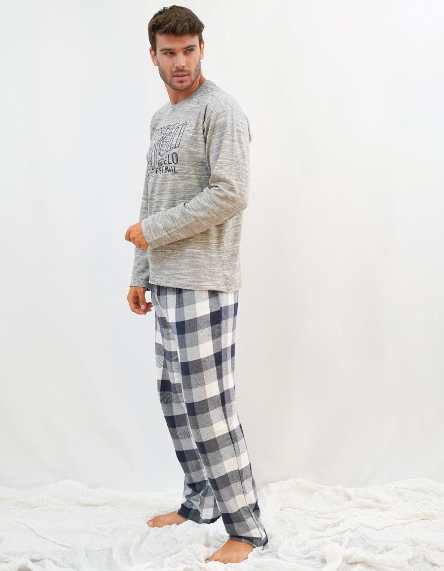 pijama de hombre algodon largo invierno