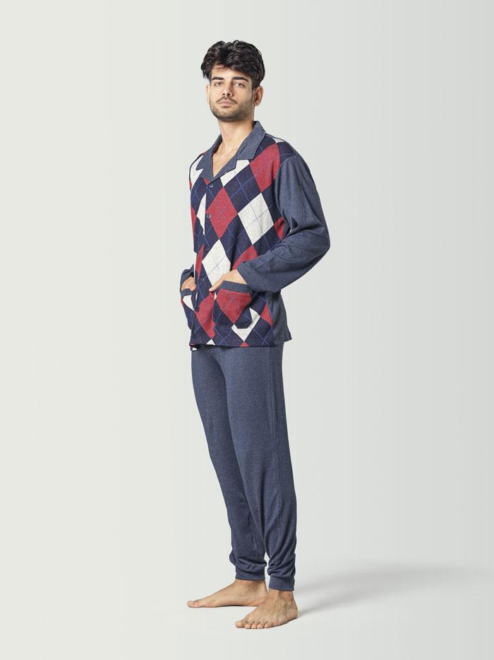 pijama estilo clasico de hombre
