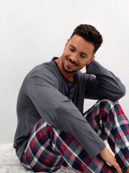 Pijama de hombre de franela