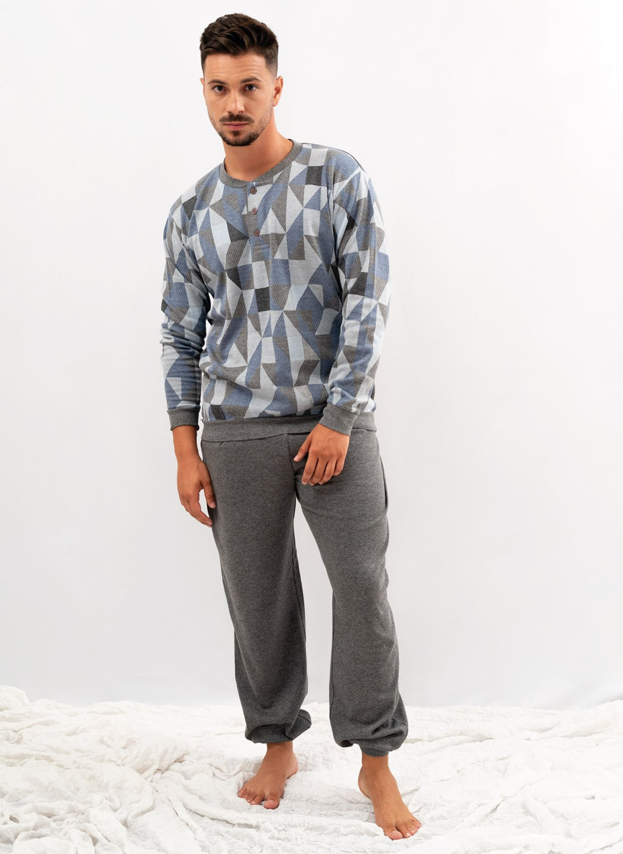 pijama de hombre de invierno estampado