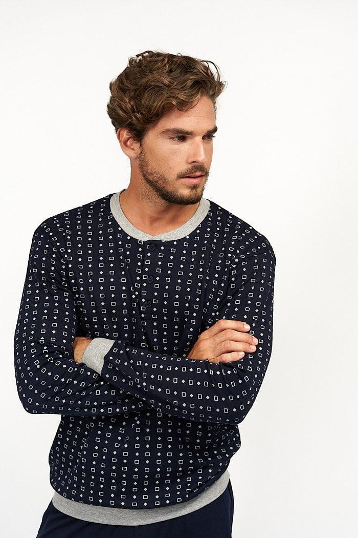 Pijama de hombre combinado azul