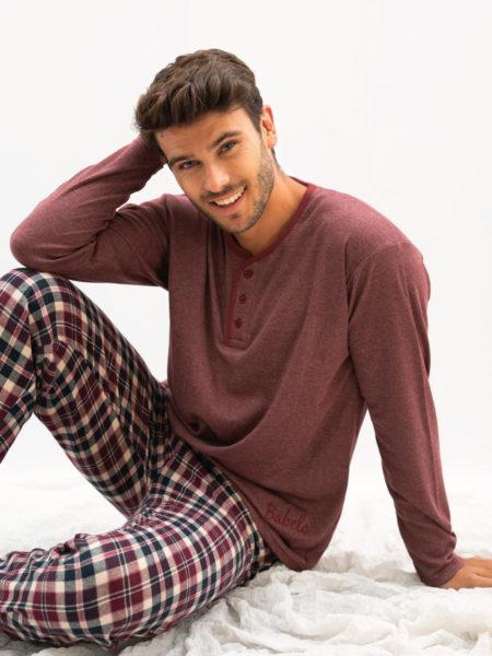 Pijama de hombre algodon cuadros babelo