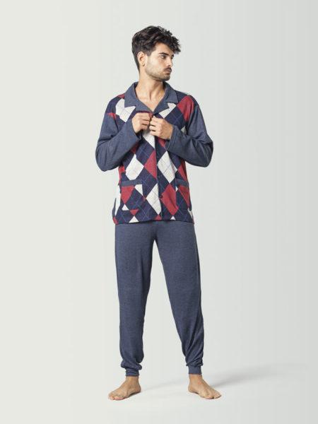 Pijama de hombre de invierno estilo clasico
