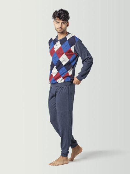Pijama de hombre estampado a rombos