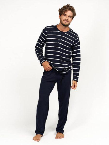 Pijama de hombre estilo marinero azul
