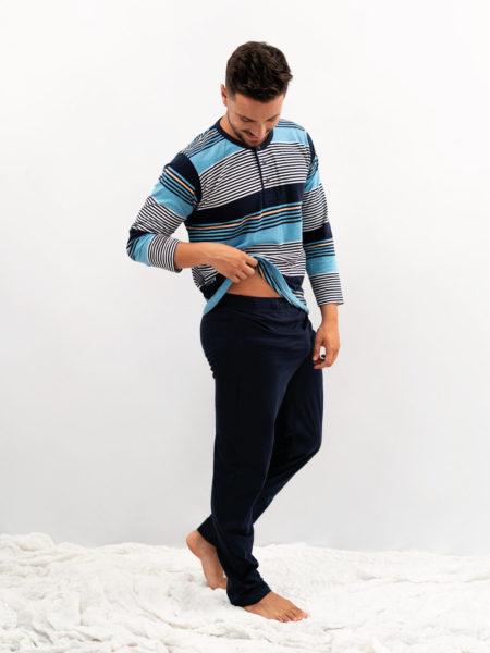 Pijama de hombre de rayas
