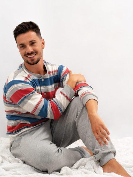 pijama de hombre invierno rayas