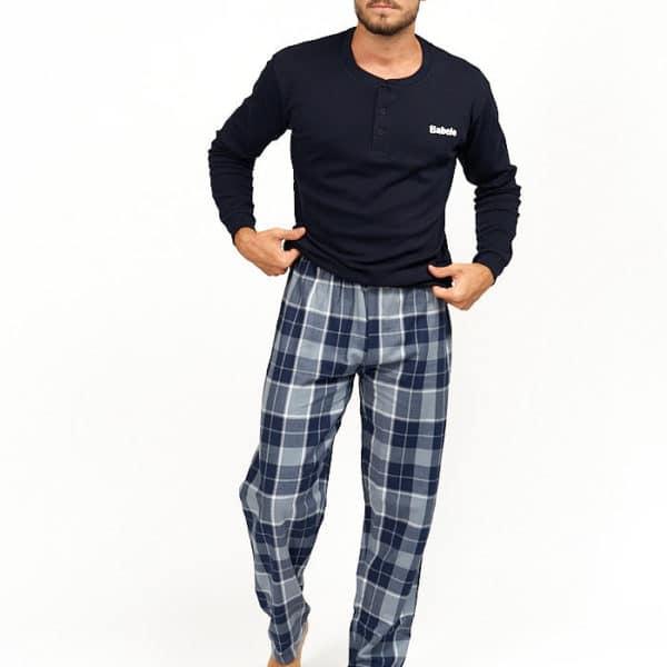 Pijama de invierno para hombre con cuadros