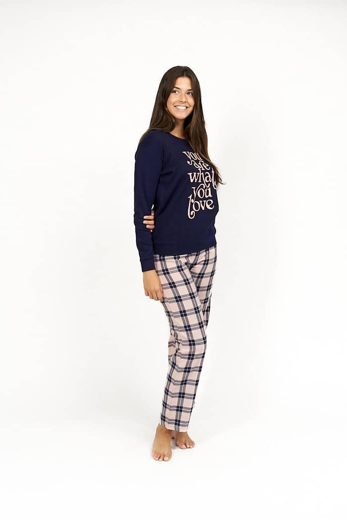 Pijama de mujer algodon combinado
