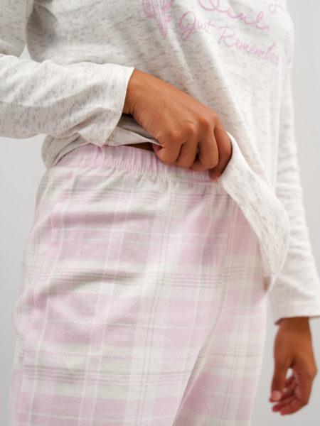 Pijama de mujer de algodón rosa