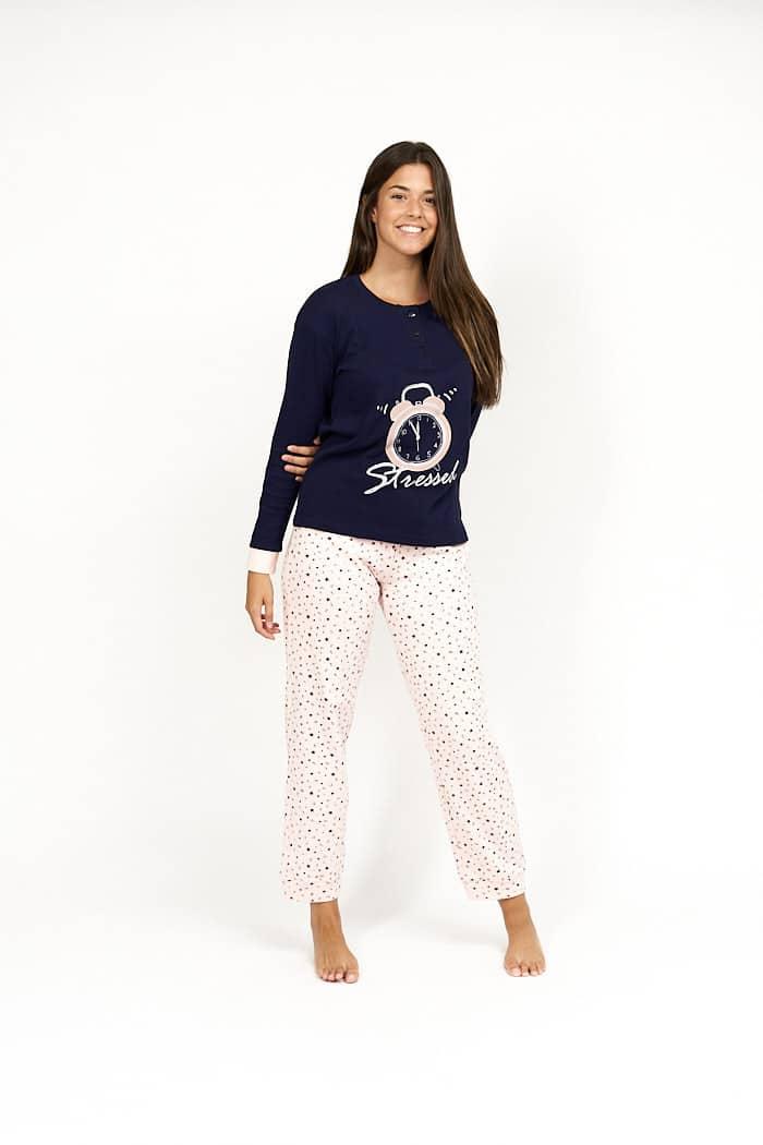 Pijama de mujer invierno reloj