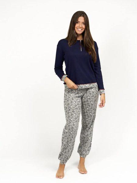 Pijama de mujer navideno combinado