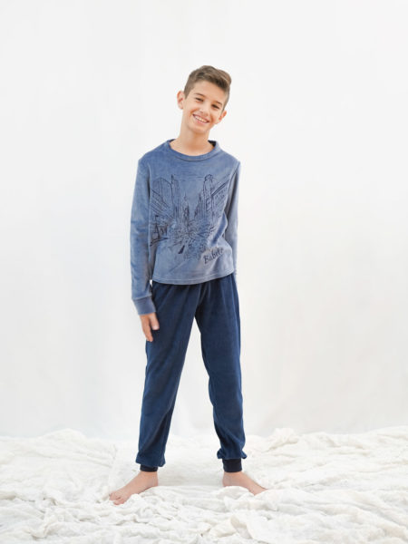 pijama de niño de terciopelo