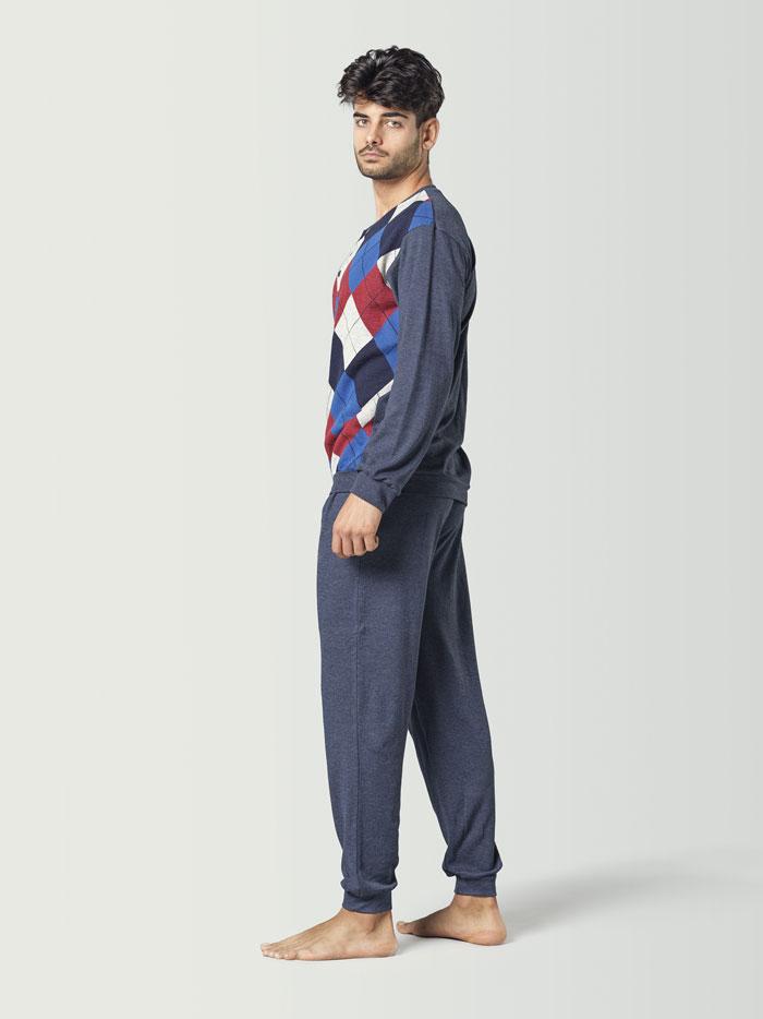 pijama a rombos para hombre