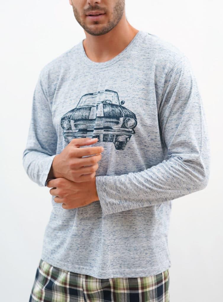 Pijama estampado coche