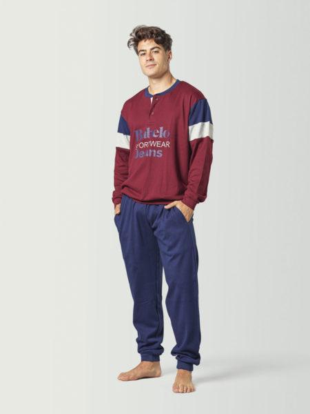 Pijama tipo chándal granate para chico