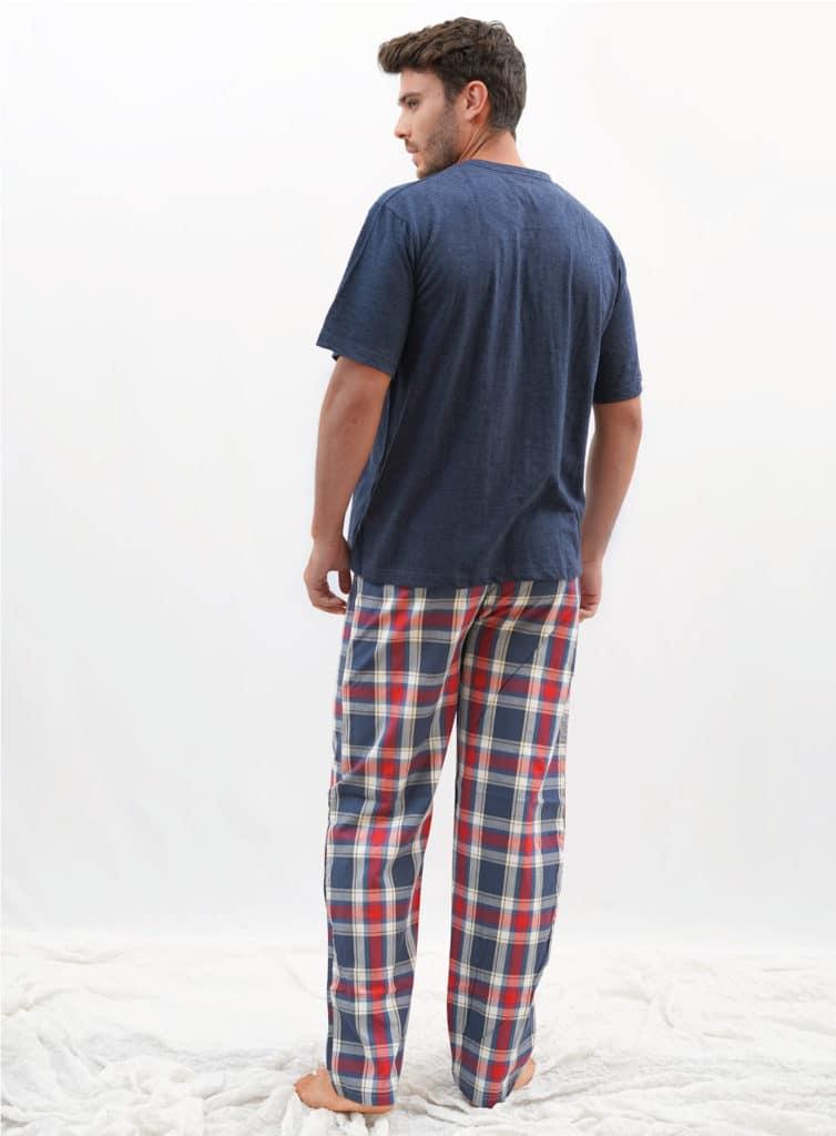 Pijama hombre cuadros rojos