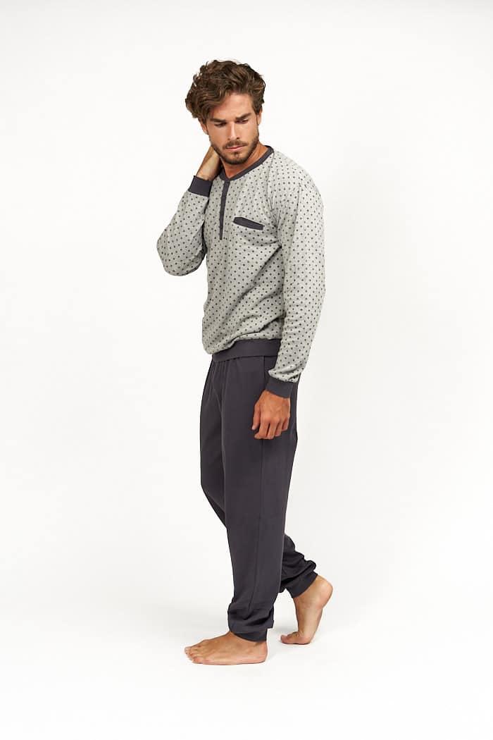 Pijama hombre gris