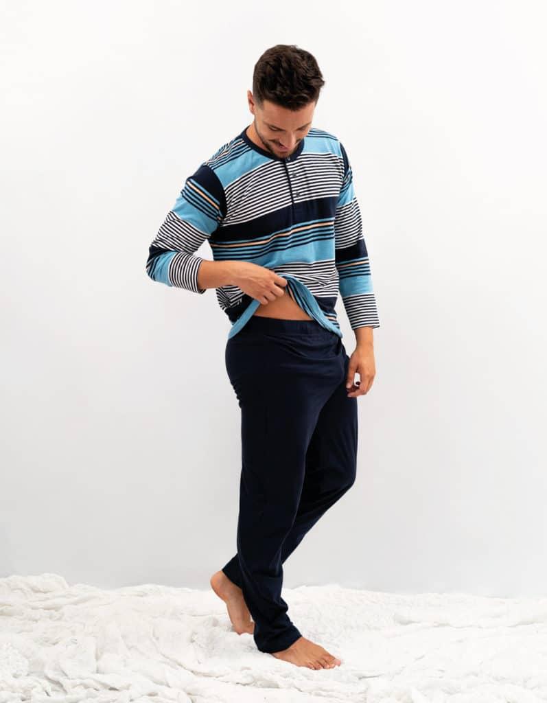 Pijama hombre verano combinado rayas