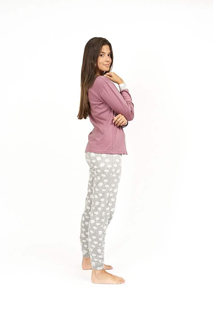 Pijama mujer abotonado