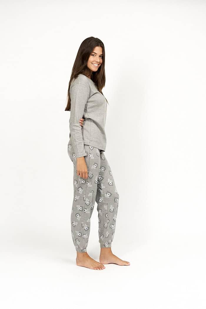 Pijama mujer color gris