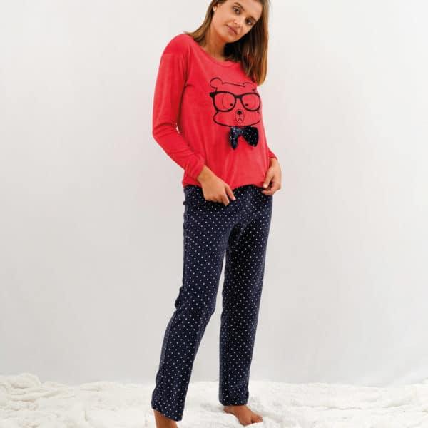 pijama de mujer terciopelo rojo
