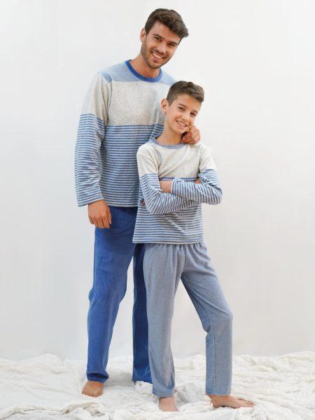 pijama terciopelo adulto y niño