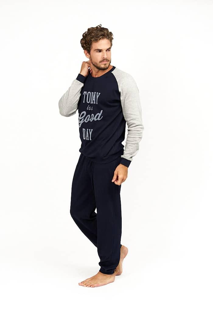 Pijama pantalon azul