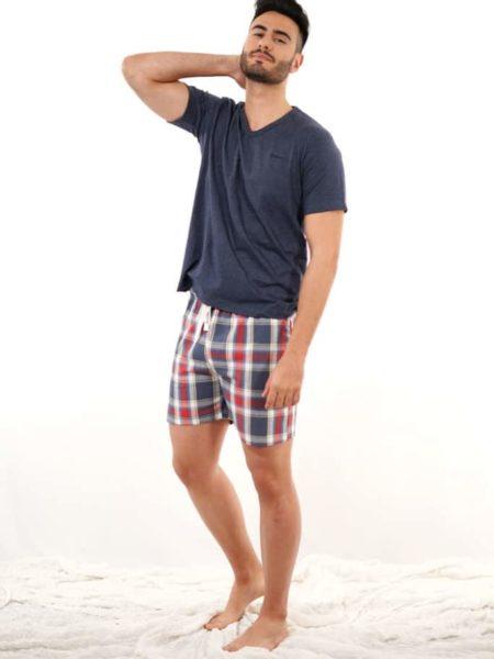Pijama para hombre combinado cuadros
