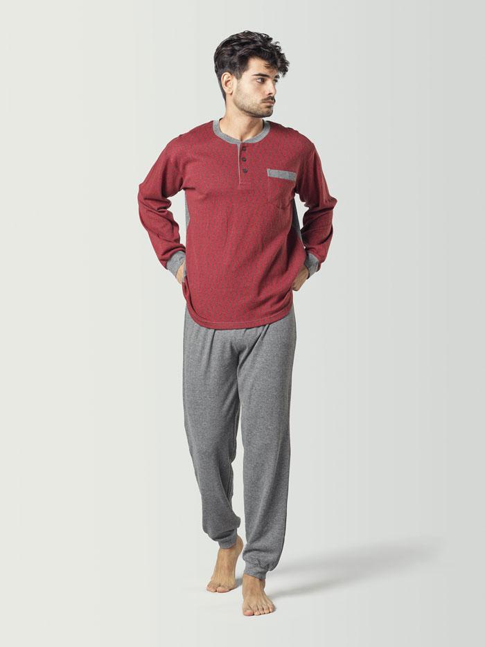 Pijama para hombre combinado rojo