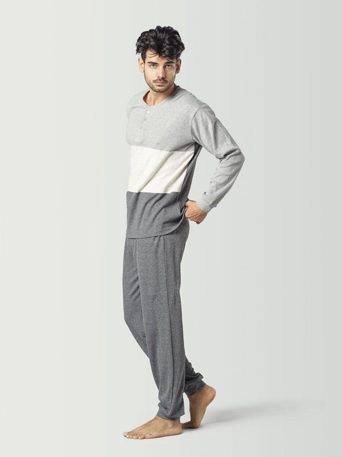 pijama para hombre de invierno con tonos grises