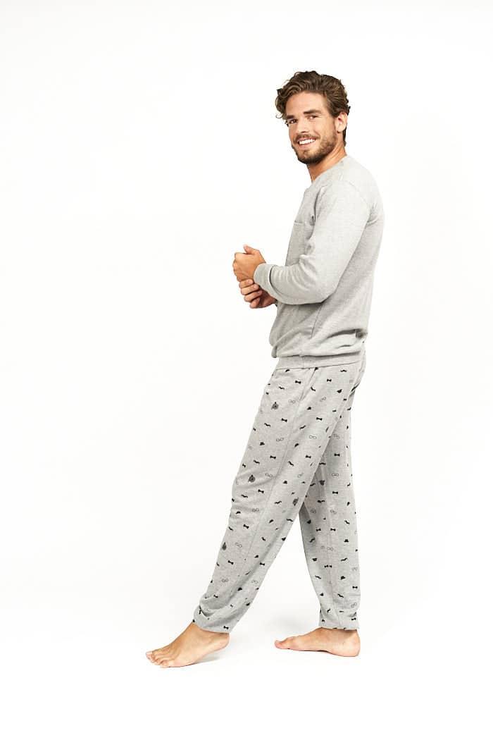 Pijama para hombre gris