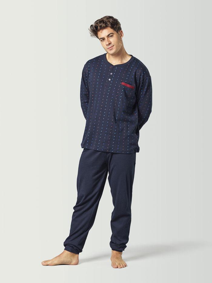 Pijama navideño para hombre azul