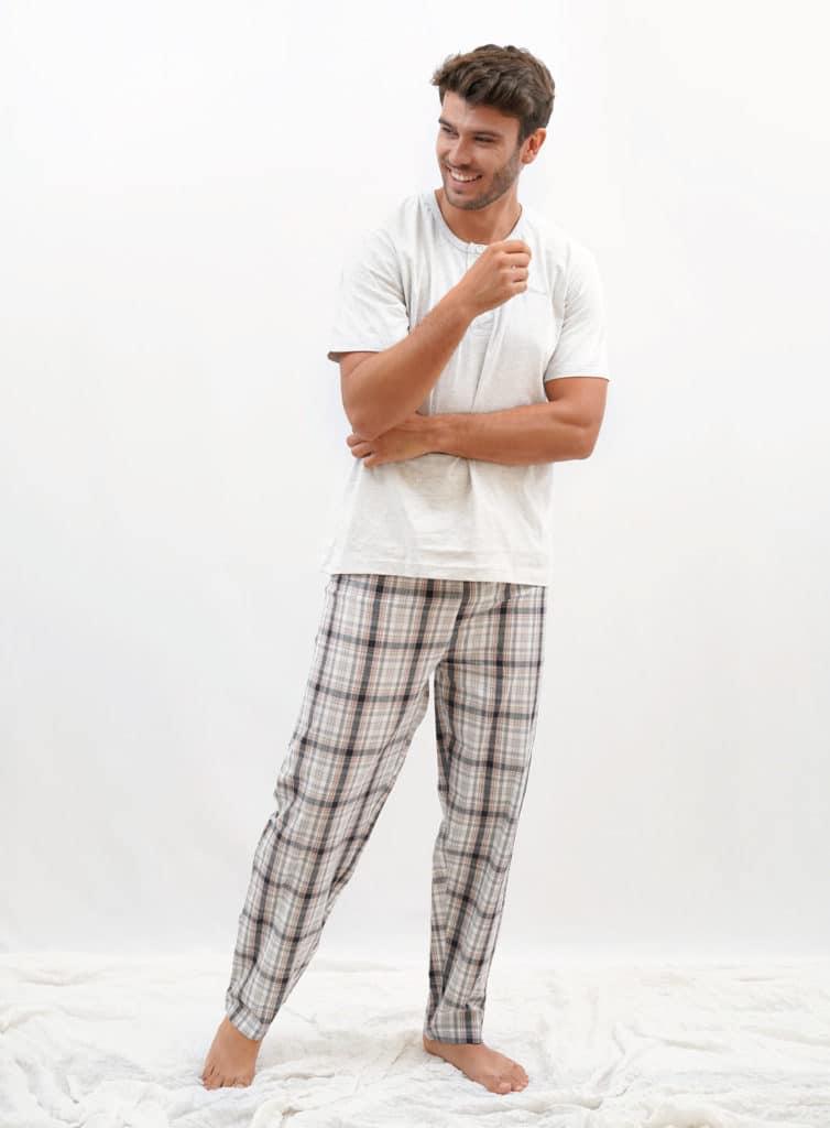 Pijama Para Hombre Pantalon Largo Y Cuadros Pijamas Babelo Pijamas Babelo