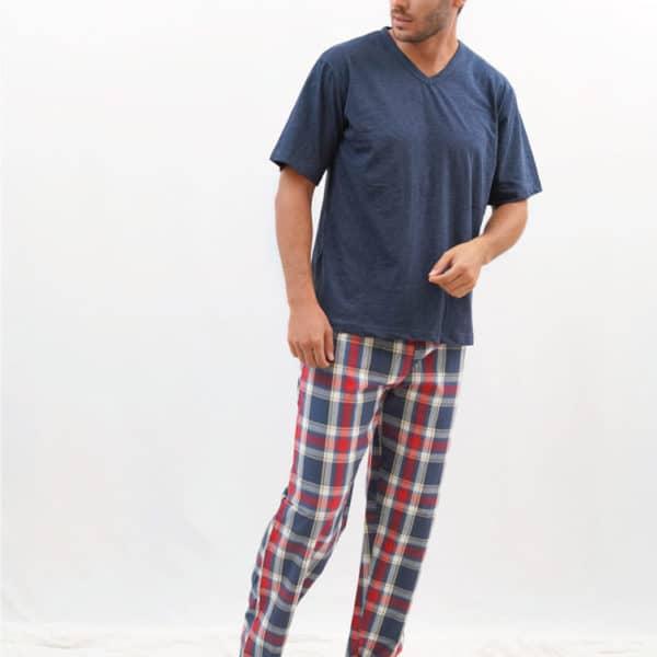 Pijama para hombre pantalón largo cuadros