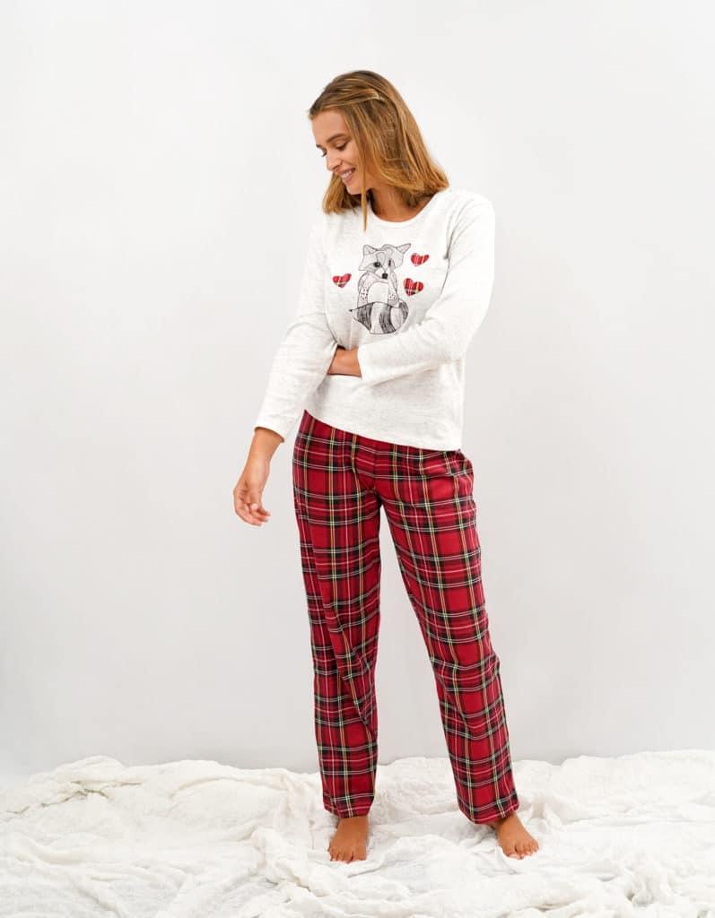 Pijama Para Mujer Con Cuadros Rojos Pijamas Babelo Pijamas Babelo