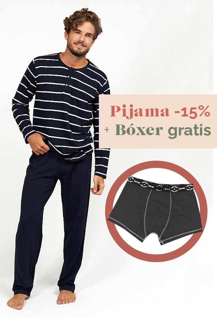 Pijama primaveral de hombre estilo marinero