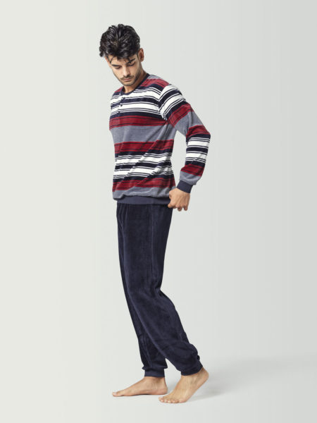 Pijama de terciopelo para hombre