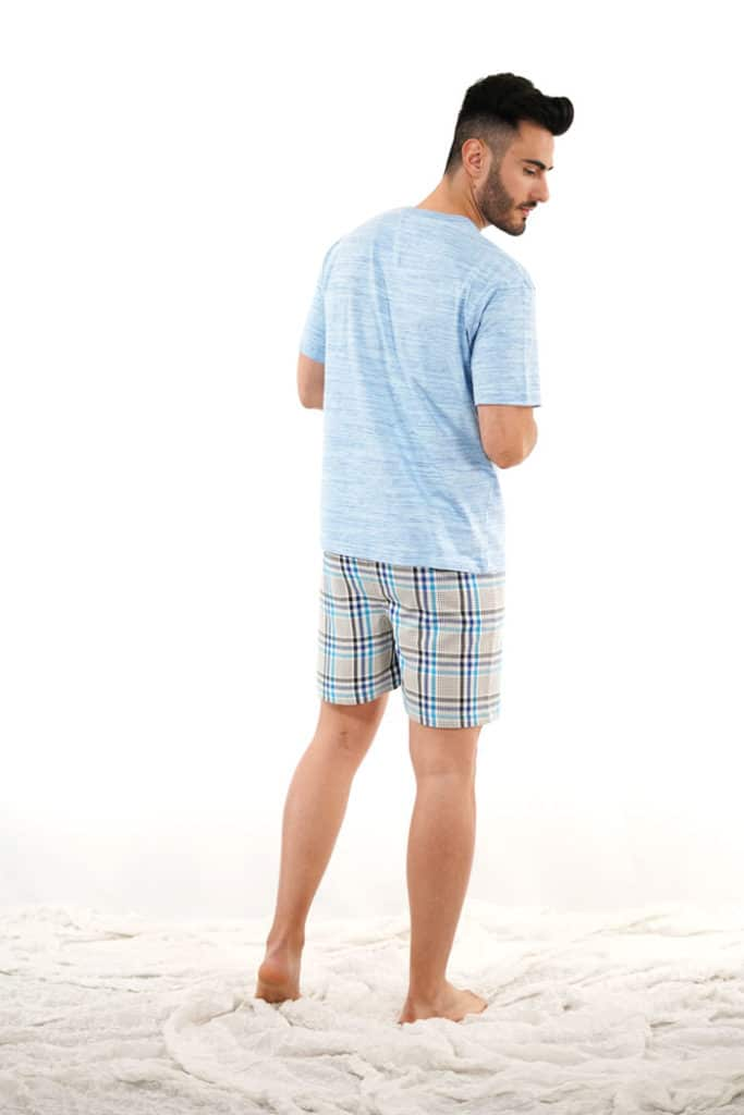 Pijama verano azul cuadros