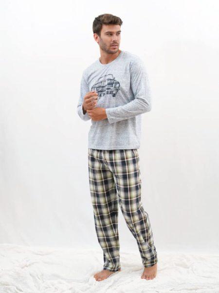 Pijama de entretiempo para hombre estampado coche