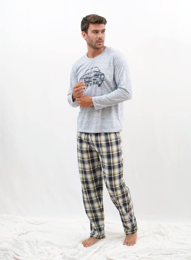 Pijama verano para hombre estampado coche