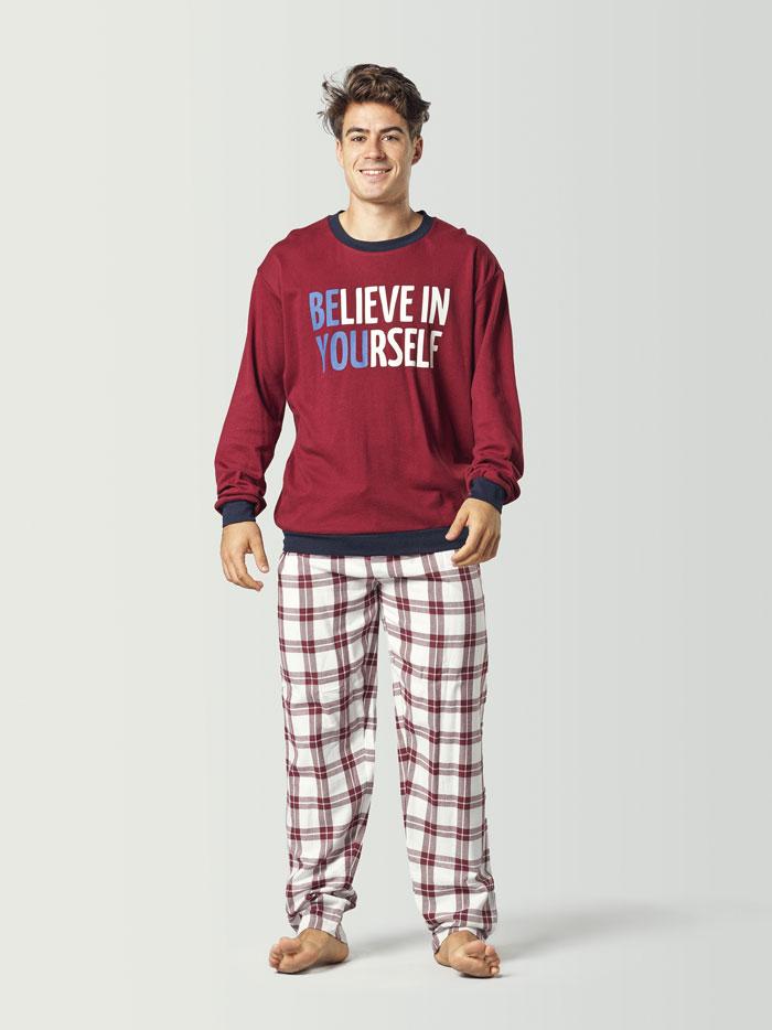 pijama cuadros rojos para hombre