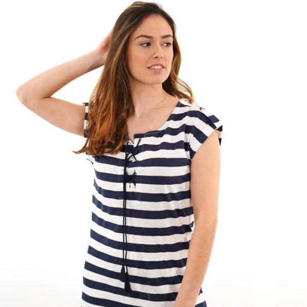 Vestido de algodón marinero